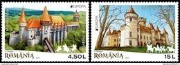 """RUMANIA/ ROMANIA/ ROUMANIE/ RUMÄNIEN -EUROPA-CEPT 2017.-TEMA:""""CASTILLOS -CASTLES -SCHLÖSSER"""".- SERIE De 2 V. - 2017"""