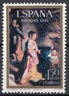"""Spagna 1968 Sc. 1555 """"Natività Di Gesù"""" Quadro Dipinto Federico Fiori Barocci Nuovo MNH Paintings Spain Espana - Religious"""