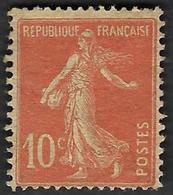 FRANCE  1907 -  Y&T 138j  - Papier GC  (IA) - Semeuse 10c -  NEUF* - Cote 14e - 1906-38 Sower - Cameo