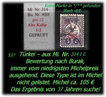 TURKEY ,EARLY OTTOMAN SPECIALIZED FOR SPECIALIST, SEE...Mi. Nr. 314 C - Type 1-2 -RR- - 1858-1921 Osmanisches Reich