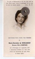 Marie Henriette De Woelmont Baronne Felix D'Anethan Née A Brumagne Le 4 Saptembre 1897 Décédée En 1968 - Obituary Notices