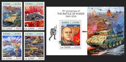 SIERRA LEONE 2019 - World War 2: Kursk. 4v + S/S Official Issue. - Sierra Leone (1961-...)