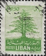 LEBANON 1952 Cedar Of Lebanon - 0p.50 - Green FU - Liban