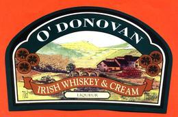 étiquette De Liqueur Irish Whiskey Et Cream O'donovan- 70 Cl - 17° - Whisky