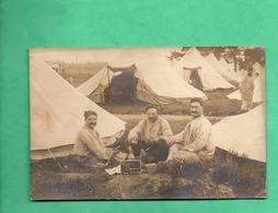 45 Loiret Camp De Cercottes 1919 Carte Photo Militaire 74eme Regiment D ' Infanterie Photographe Barrier Orleans - Reggimenti