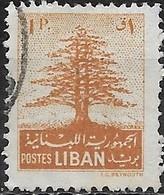 LEBANON 1952 Cedar Of Lebanon -1p - Brown FU - Liban
