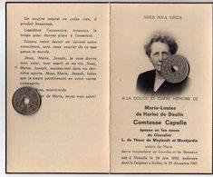 Marie Luoise De Harlez De Deulin Comtesse Capelle épouse  Chevalier L De Theux De Meylandt Et Montjardin Née A Flémalle - Obituary Notices