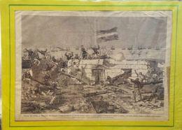 PRISE DE SFAX BATTLE SCENE REAL ENGRAVING FROM LE TOUR DU MONDE 1878 - Engravings