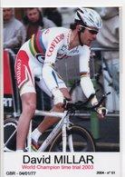 CYCLISME TOUR DE FRANCE   DAVID MILLAR - Cyclisme