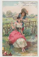 2 Cartoline Illustrate  - F.p.- Fine  '1800 - Illustratori & Fotografie