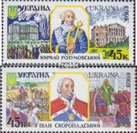 Ukraine 571-572 (kompl.Ausg.) Postfrisch 2003 Hetmane - Ukraine