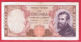 Italie  -  10 000 Lires  8/6/1970 -   Pick # 97 D   -  état  TB - [ 2] 1946-… : Républic