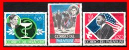 PARAGUAY (AMERICA DEL SUR) 3 SELLOS DIFERENTES VALORES Y AÑOS - Paraguay