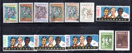 "XP4122 - ANGOLA PORTOGHESE 1965 , 12 Valori "" Povoamento ""  Misti Nuovi Usati - Angola"