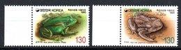 South Korea Fauna Frogs Michel 1826-1827 MNH - Corea Del Sur