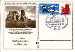 "(Bu-B5) BRD Sonder-Karte ""50 Jahre Freigabe Der Insel Helgoland"" MF Mi 1522+1469 SST 23.3.2002 KIEL 1 - BRD"