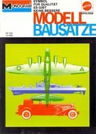 KAT361 Modellprospekt MONOGRAM Modellbausätze, Mattel 1970, Deutsch - Letteratura & DVD