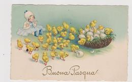 3 Cartoline Illustrate Di Buona Pasqua - F.p.- Anni '1910-1920 - Pasqua