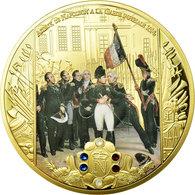 France, Médaille, Adieux De Napoléon à La Garde Impériale 1814, 2015, FDC - Other