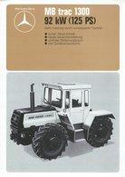 AD212 Mercedes-Benz MB Trac 1300 Ackerschlepper, Datenblatt 04/1976, Deutsch: - Publicité