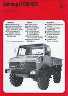 AD215 Mercedes-Benz, Datenblatt UNIMOG U 120/425, Auflage 01/1976, Deutsch: - Publicité