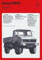 AD216 Mercedes-Benz, Datenblatt UNIMOG U 150/425, Auflage 03/1975, Deutsch: - Publicité