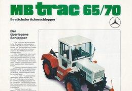 AD217 Mercedes-Benz, Prospekt MB Trac 65/70, Ausgabe 01/1975, Deutsch: - Publicité