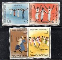 XP117 - SOMALIA 1972 , Yvert N. 156/159  ***  Danze - Somalia (1960-...)
