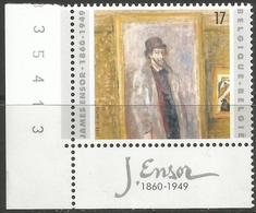 Belgium - 1999 James Ensor MNH ** Corner Stamp - Unused Stamps