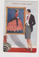 """Cartolina Illustrata, Moda """"Comme Le Temps Passe ! """" - F.p.- Anni '1920 - Moda"""