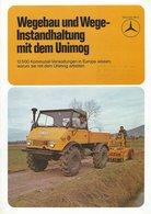 AD219 Mercedes-Benz WEGEBAU U. WEGE-INSTANDHALTUNG MIT DEM UNIMOG, 1974 - Publicité