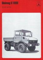 AD220 Mercedes-Benz, Datenblatt UNIMOG U 1000, Auflage 09/1976, Deutsch: - Publicité