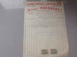 Bruxelles Papier En Gros Victor Haesaert - Belgique