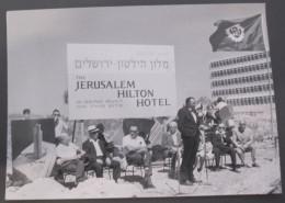 HOTEL HILTON JERUSALEM CORNER STONE CEREMONY ISRAEL CYRIL STEIN WORLD HOTELS 1970 REAL PHOTO TOURISM MIDDLE EAST - Postcards