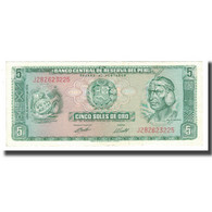 Billet, Pérou, 5 Soles De Oro, 1962, 1974-08-15, KM:99c, NEUF - Pérou