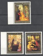 1984 Niger Christmas Airmail Art Paintings Full Used Set. On The Stamp Of 400 F The Copy Picture Of Leonardo Da Vinci - Niger (1960-...)
