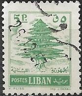 LEBANON 1955 Cedar Of Lebanon - 5p - Green FU - Liban