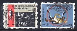 XP222 - SOMALIA 1971 , Yvert N. 128/129 Usato  Razzismo - Somalia (1960-...)