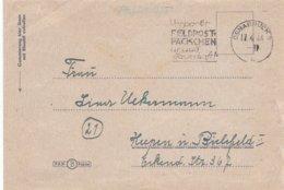 German Feldpost WW2: 4./ Landesschützen Ersatz Bataillon 6 In Osnabrück P/m Osnabrück 17.4.1944 - Letter Inside - Militaria