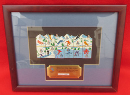 OLYMPIC WINTER GAMES SALT LAKE CITY 2002 UNITED STATES PUZZLE SET FRAMED PINS BADGES!!! - Apparel, Souvenirs & Other