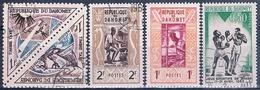 Benin - Dahomey 1961  -  Yvert 159 + 160 + 192 + Taxas 37 + 38  ( Usados ) - Benin – Dahomey (1960-...)