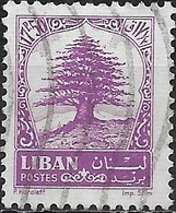 LEBANON 1964 Cedar Of Lebanon - 17p.50 - Purple FU - Libanon
