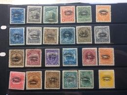 El Salvador - Selection Of Early Issues Mint - With Franqueo Oficial Overprints - El Salvador