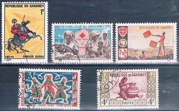 Benin - Dahomey 1961 / / 70  -  Yvert 162 + 175 + 206 + 242 + 297  ( Usados ) - Benin – Dahomey (1960-...)