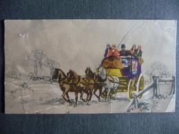 TRANSPORT EN DILIGENCE ,Carte Ancienne 10,5 X 5,5 - Cartes Postales