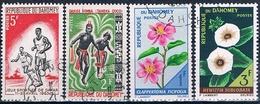 Benin - Dahomey 1963  -  Yvert 195 + 205 + 246 + 247  ( Usados ) - Benin – Dahomey (1960-...)