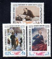 XP266 - SOMALIA 1970 , Yvert N. 117/119  ***  Lenin - Somalia (1960-...)