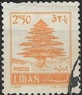 LEBANON 1961 Cedar Of Lebanon - 2p.50 - Yellow FU - Liban