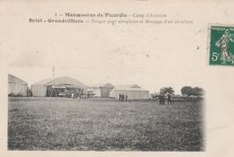 60210 GRANDVILLIERS BRIOT - HANGAR POUR AEROPLANE MANOEUVRES DE PICARDIE AVIATION En 1910 - Manifestations