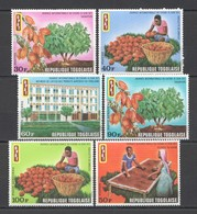 WW902 TOGO NATURE FLORA DAY OF COCOA OPAT #868-73 1SET MNH - Alimentation